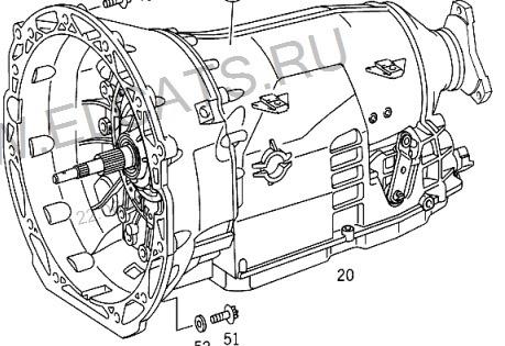 Контрактная АКПП 722.699 для Mercedes E седан II