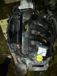 Двигатель контрактный Рено 1.6и K4M812 D004945, K4M813