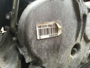 Двигатель контрактный Рено 1.6и K4M812 D068135, K4M813