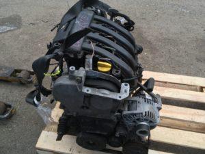 Двигатель контрактный Рено 1.6и K4M812 R029129, K4M813